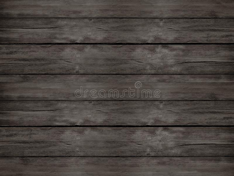 Dark brown natural wooden table from the top view royalty free stock photos