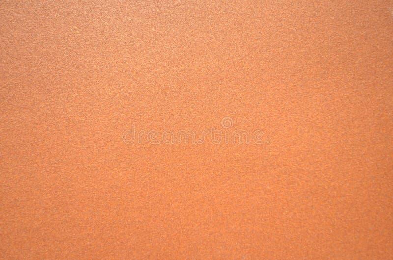 Dark brown texture of sandpaper stock image