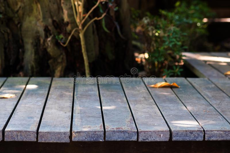 Dark brown wood texture with natural striped pattern background stock photography