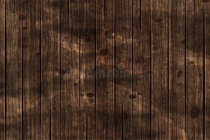 Dark brown wooden background. Vector stock photography