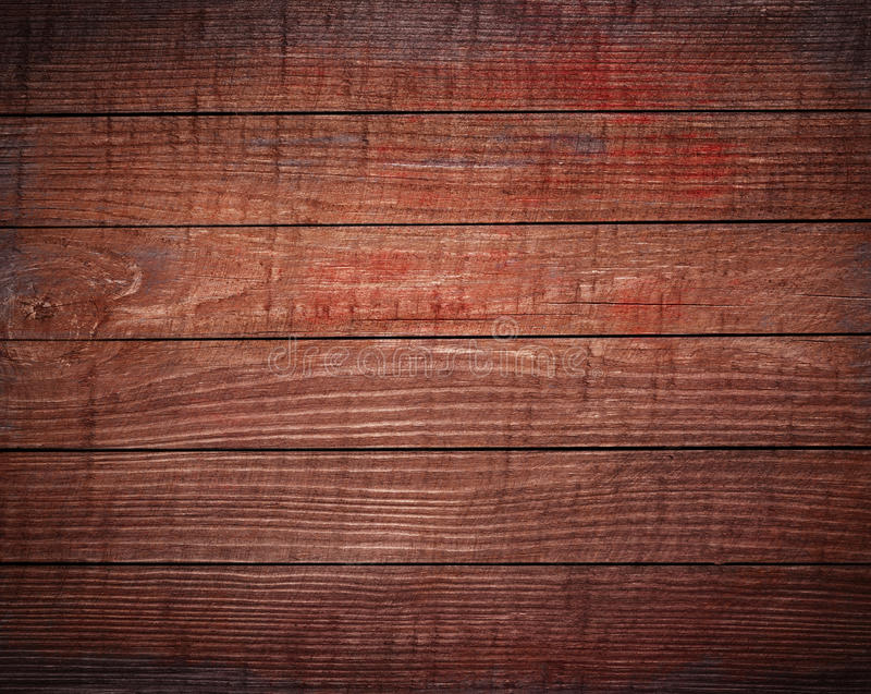 Dark brown wooden planks, tabletop, floor surface. stock photo
