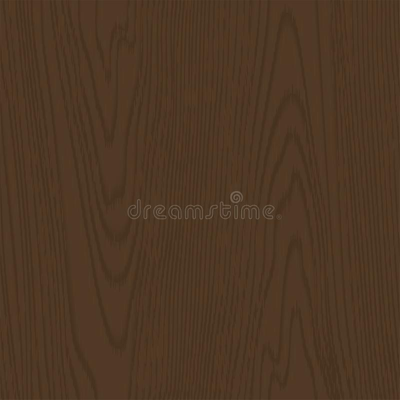 Dark brown wooden texture. Vector Seamless Pattern. Template for illustrations, posters, backgrounds, prints, wallpapers stock illustration