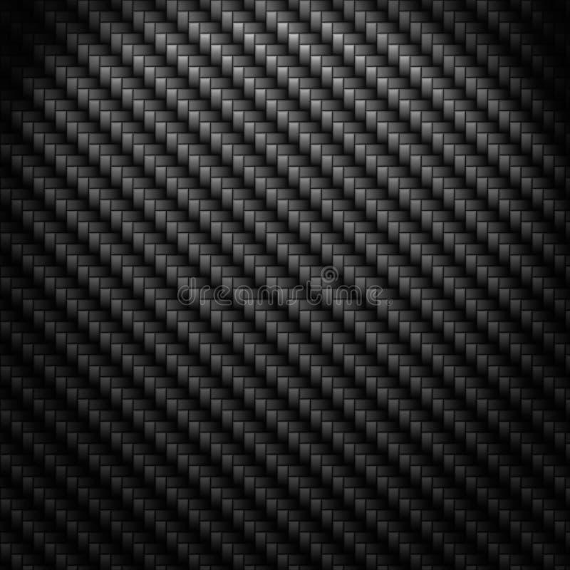 Dark Carbon Fiber Weave Background Royalty Free Stock Image