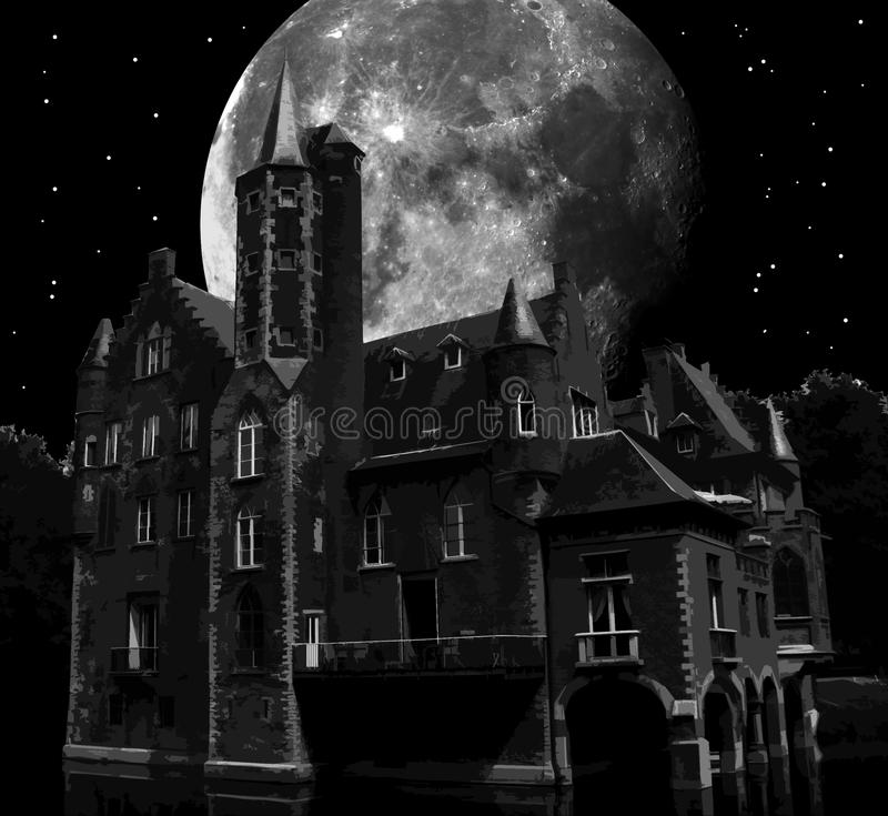 Download Dark castle stock illustration. Image of dreamy, magical - 15596095