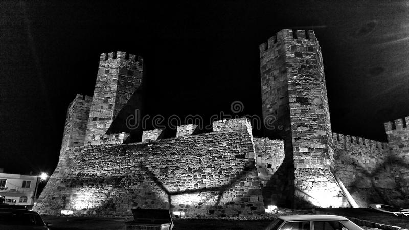 Dark castle royalty free stock photos