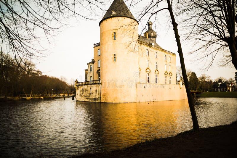 Dark Castle in Muenster stock photo