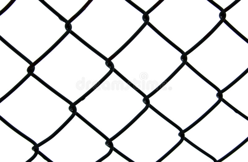 Dark chain link fence