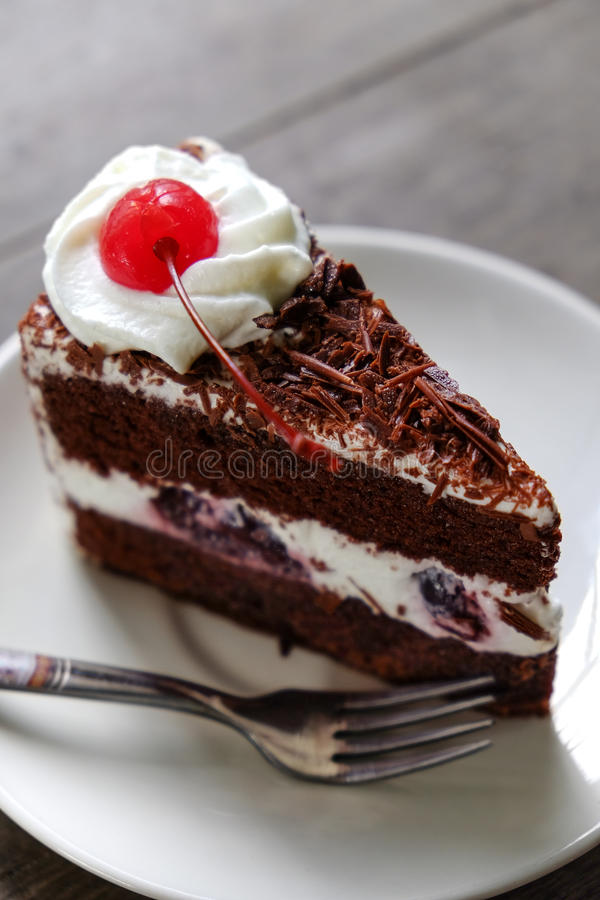 Download Dark Chocolate Cake On Wood Background Stock Image - Image of cooking, cake: 39510235