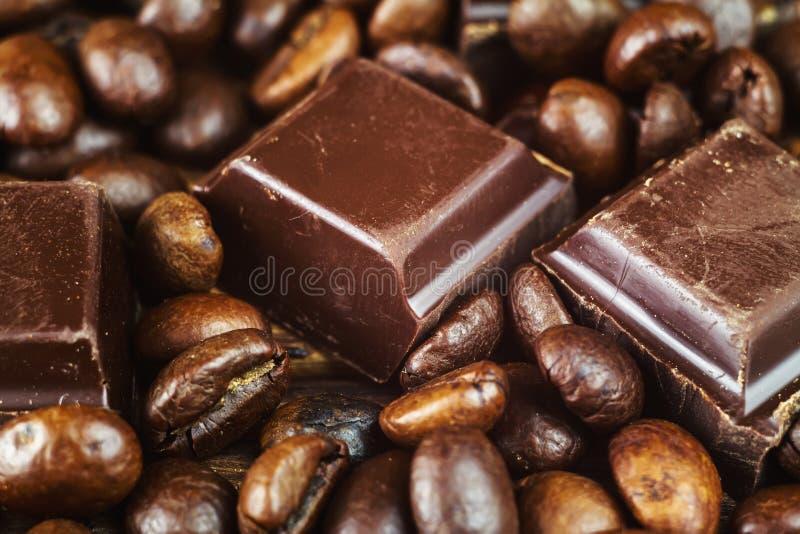 closeup of roasted arabica coffee beans dark chocolate