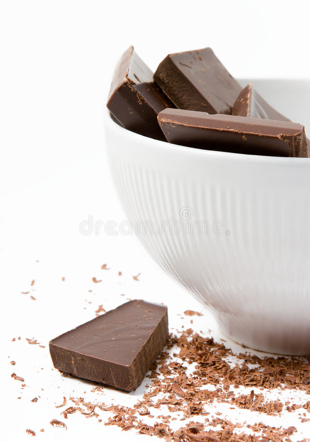 Free Dark Chocolate In The Bowl Royalty Free Stock Photos - 1947498