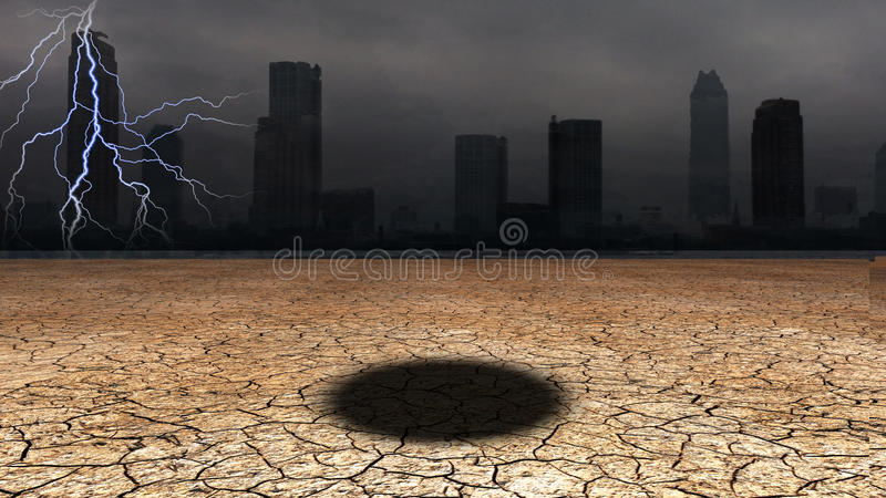 Download Dark city stock illustration. Image of dire, environment - 24659698