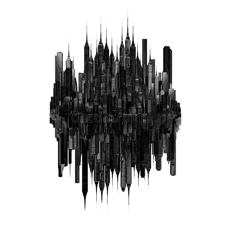 Dark city concept royalty free illustration