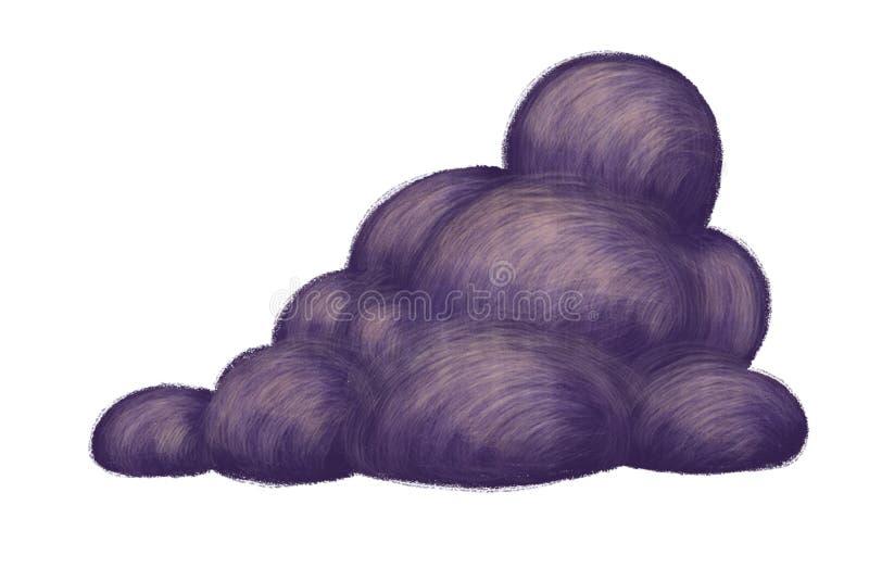 Dark cloud illustration stock illustration