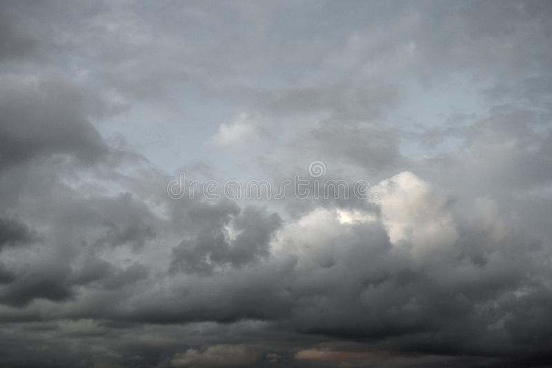 Dark cloud sky. May be used as background royalty free stock photography