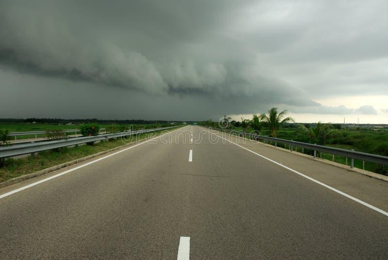 Dark clouds ahead stock photo