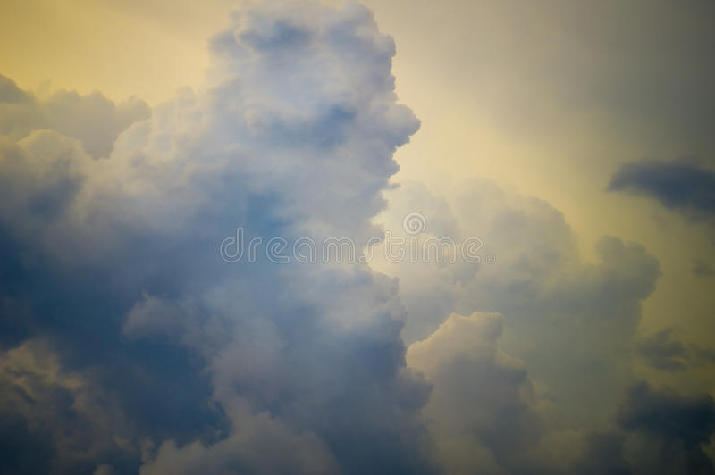 dark clouds in bad weather royalty free stock images