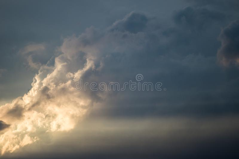 Dark clouds in bad weather royalty free stock photo