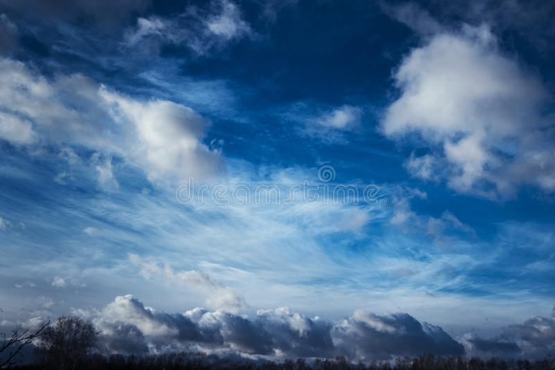 Dark clouds royalty free stock image