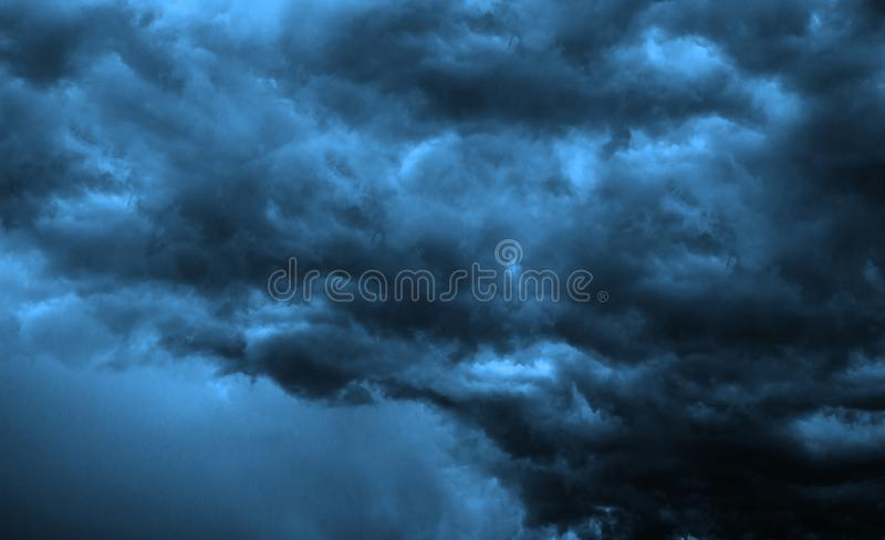 Dark Clouds - Big Storm. Background royalty free stock photography