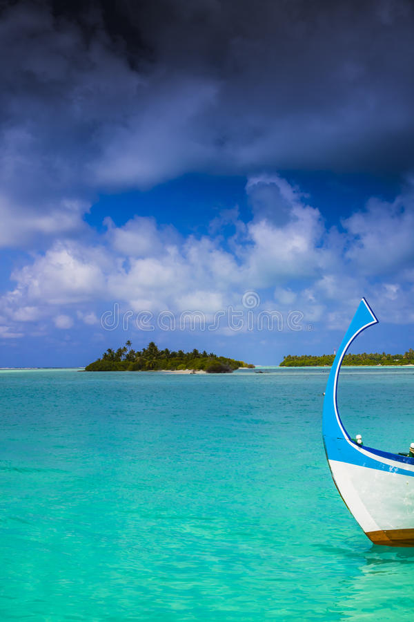 Download Dark clouds over maldives stock image. Image of vacation - 27337343