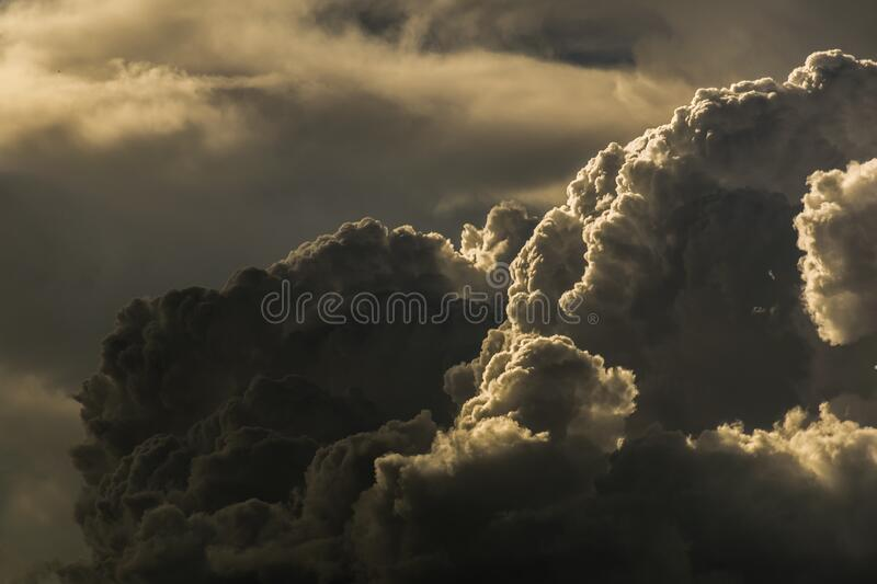 Dark clouds royalty free stock photos