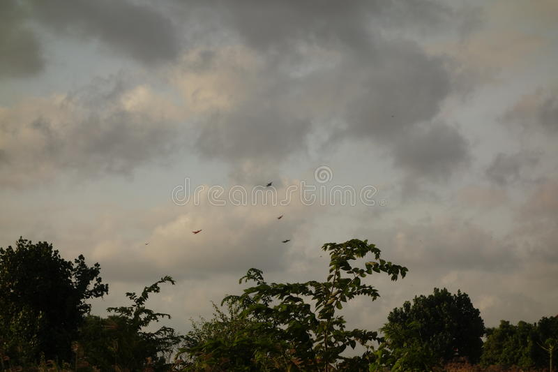 Dark clouds in the sky royalty free stock photo