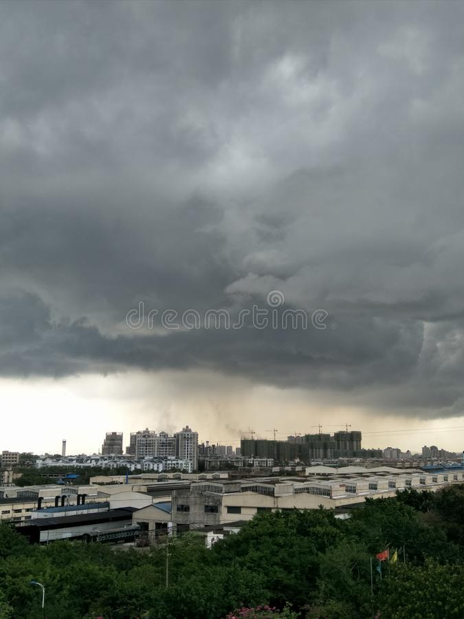 Dark clouds royalty free stock photos