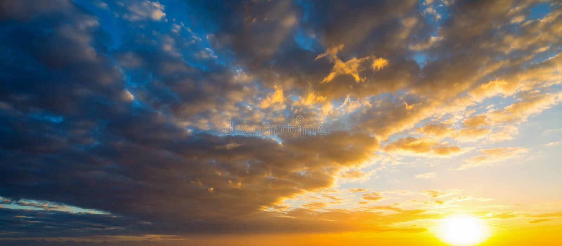 Dark clouds at sunset. Sardinia, Italy royalty free stock photos