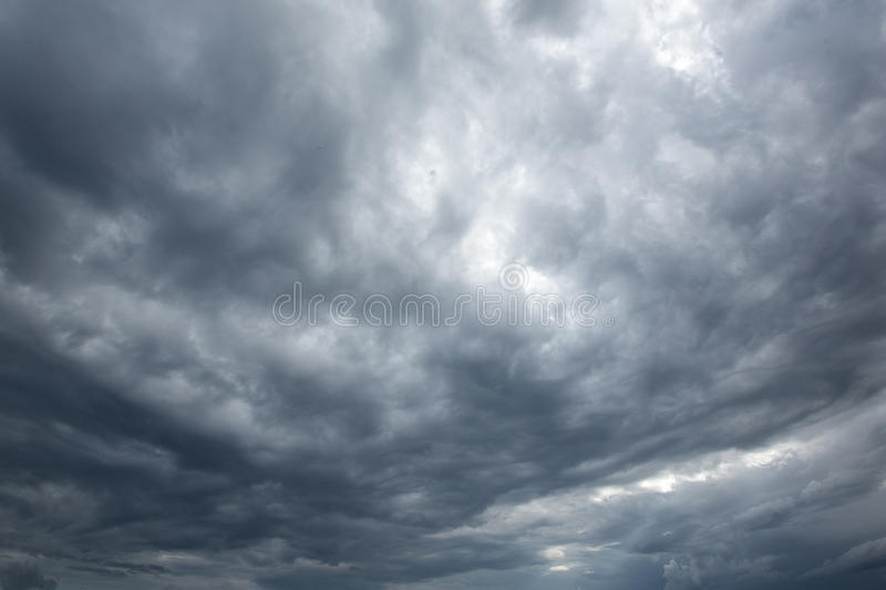 Download Dark  Clouds Before A Thunderstorm Stock Image - Image of storm, meteorology: 28735005