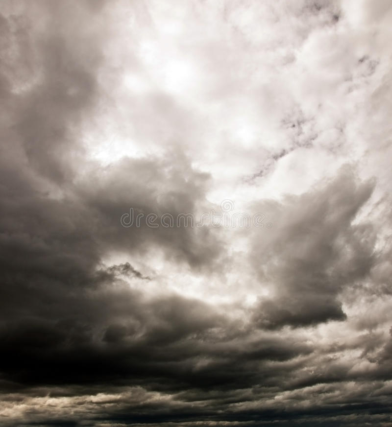 Dark cloudy sky royalty free stock photography
