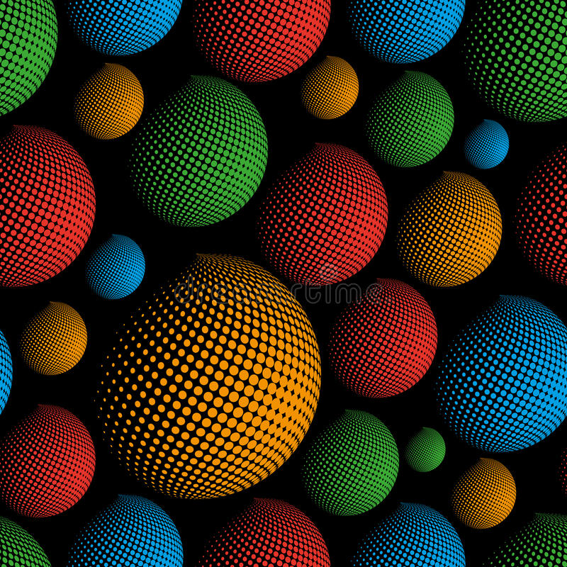 Free Dark Color Halftone Spheres Abstract Design Elements Seamless Pattern Eps10 Stock Images - 73590064