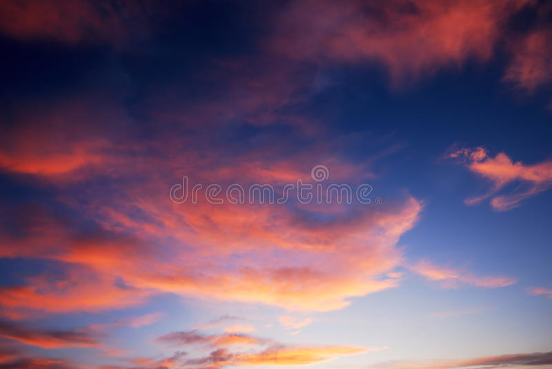 Download Dark Colorful Sunset Clouds Royalty Free Stock Image - Image: 11440586