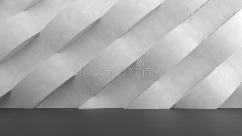 Download Dark Concrete Floor With Abstract Waves Pattern Background. Stock Illustration - Image: 83702597