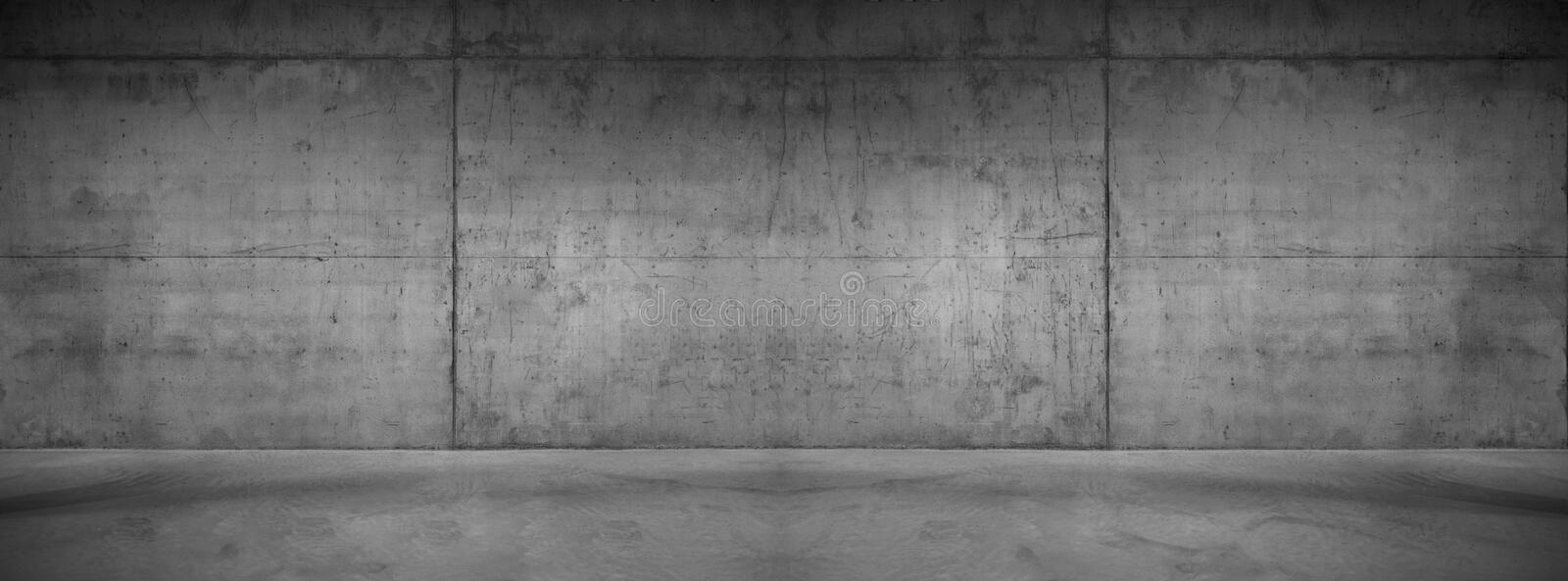 Dark Concrete Wall Panorama Wide Modern Background Texture royalty free stock photography