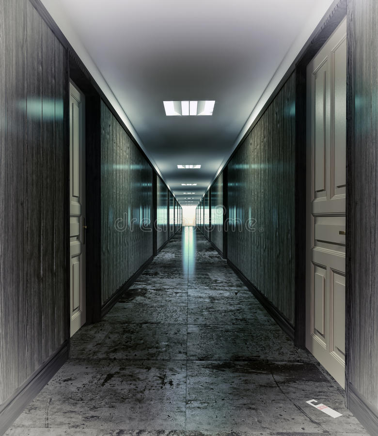 Download Dark corridor stock illustration. Image of exit, construction - 24018156