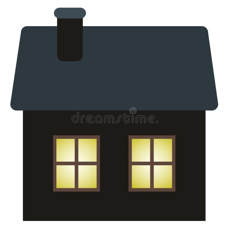 Download Dark cottage stock vector. Image of cold, snow, cottage - 25586409