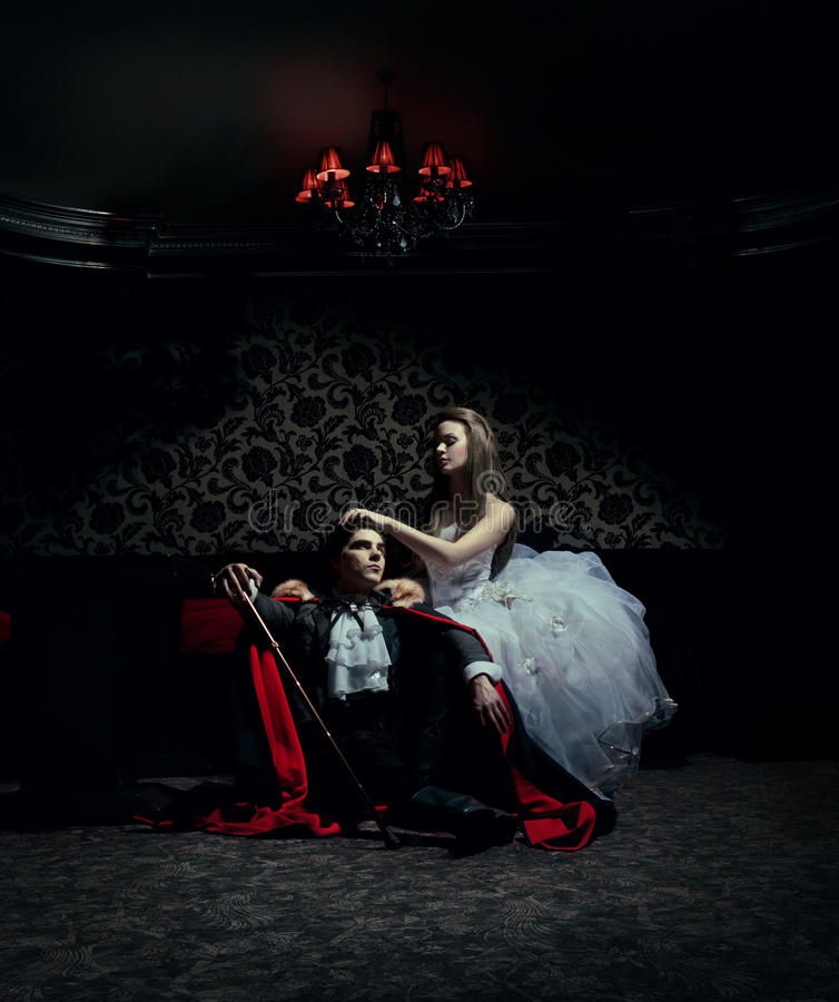 Download Dark Couple Resting After The Ball Stock Photo - Image of vampire, posh: 19795354