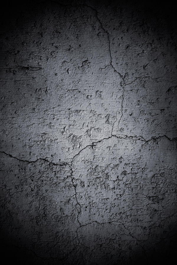 Dark Cracked Wall royalty free stock photo