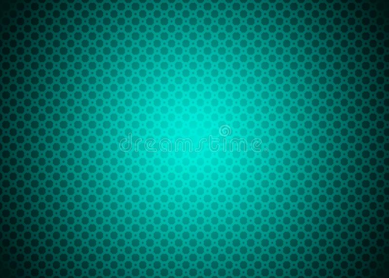 Dark Cyan Neon Green Blue Techno Ornamental Pattern Background Wallpaper vector illustration