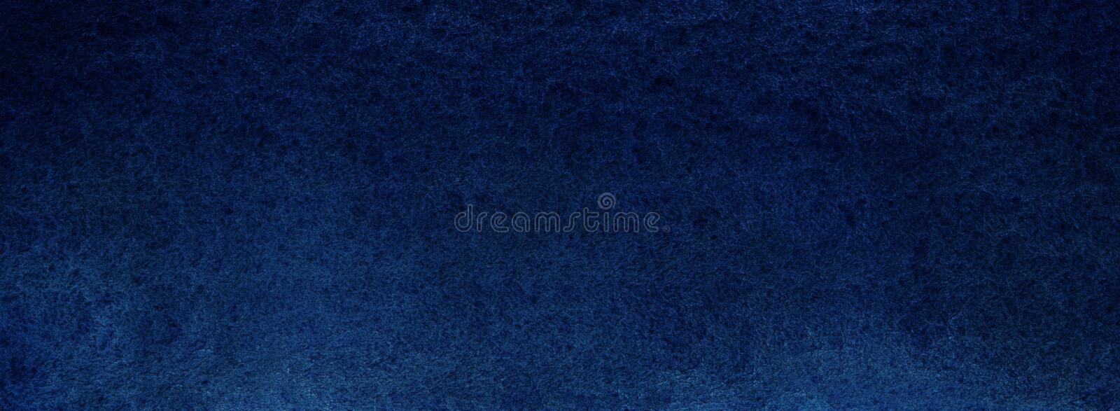 Dark deep blue texture. Night sky or sea abyss. Saturated bright. Background. Hand drawn watercolor vector illustration