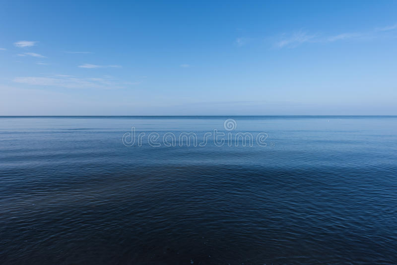 Dark and deep ocean. In the winter royalty free stock photos