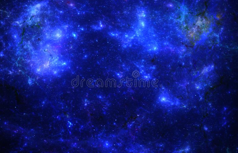 Dark deep space starfield stock illustration