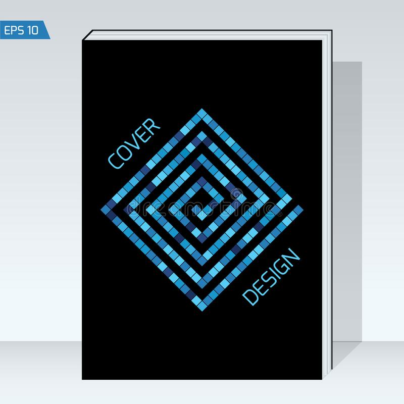 Black geometry design Cover brochure. royalty free illustration