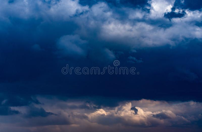 Dark Dramatic Clouds royalty free stock images