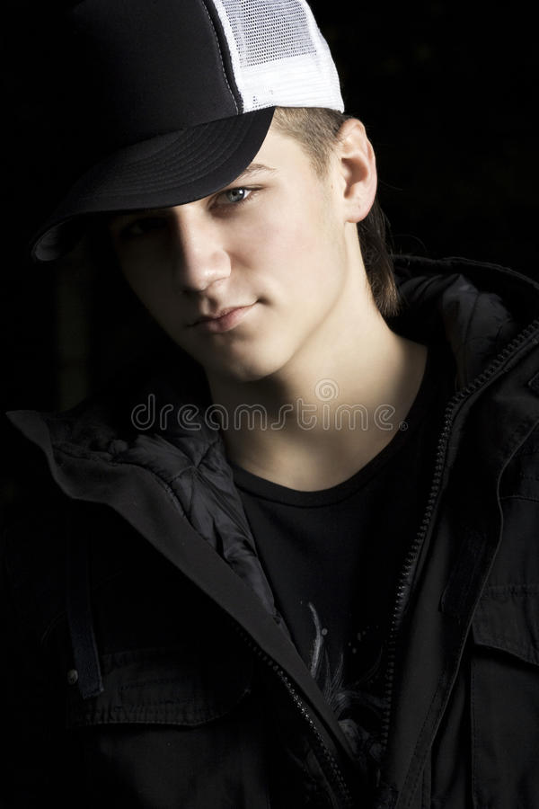 Download Dark Dramatic Portrait Of A Handsome Teenager Stock Image - Image: 35881455