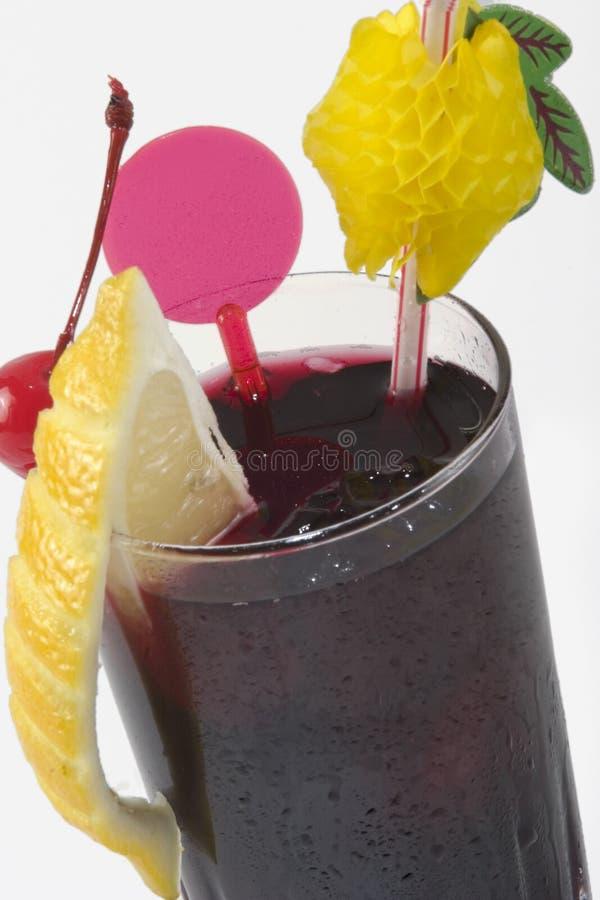 Dark drink with citron stock photos
