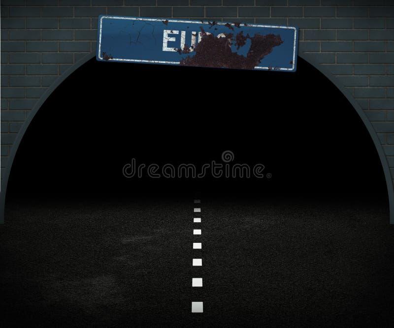 Download Dark Euro Way stock illustration. Image of europe, macro - 25243098
