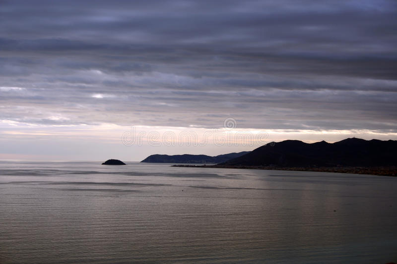 Download Dark Evening In Winter On The Sea Stock Photo - Image: 14655100