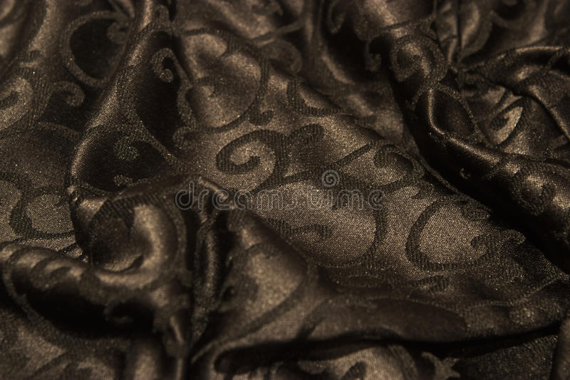 Dark fabric background stock photography