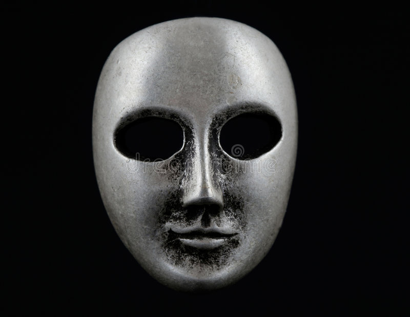 Dark face mask royalty free stock image